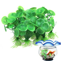 Wholesale 1Pcs Simulation Artificial Aquatic Plants Aquarium Fish Tank Ornament Decor Fish Aquariums Accessories
