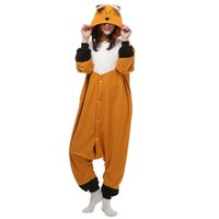 Wholesale AC025 In Stock Fox Cartoon Cosplay Party Costumes Comfy Leisure Animal Onesies Pajamas Jumpsuit Teens Adults Homewear Cheap Sale