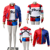 Wholesale 2016 NEW Version DC Comic Batman Suicide Squad Harley Quinn Joker Cosplay Costume Halloween Party Customize Full Set