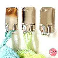 Wholesale 3pcs pack Stainless Steel Wall Hanger Keys Hooks for Kitchen Towel Rails Storage