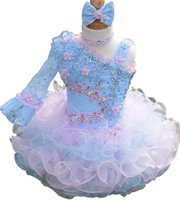 best baby beads - The Best Selling Colorful Girls Pageant Dresses Organza Ruffles Toddler Cupcake Dress Crystal Beads Little Baby Mini Skirt
