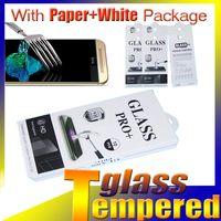 apple white paper - 9H Premium Tempered Glass Screen Protector Film For iPhone Plus S Plus MOTO G3 G4 Plus SONy Z5 Premium Plus With Paper White Box