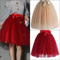 Wholesale 2016 Cheap Tutu Skirt Mini Skirts Under Dresses High Quality Tulle Ribbon Bow Children Pettiskirt Clothes In Stock