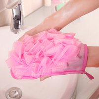 bath dust - Double side Frosted Bath Towel Shower Glove Thickened Anti dust Washing Cloth Skin Care Bathroom Tools