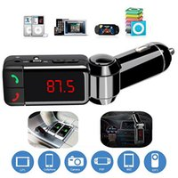 Wholesale Car Bluetooth FM Transmitter USB MP3 Player In Car Kit Wireless Bluetooth Hands Free for SmartPhone