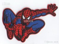 Wholesale Spiderman Patches Sew or Iron On Applique patch Clothes Tee Shirt Hat Jean shoes Pet Clothing