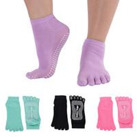 barre socks - Pilates Barre EXERCISE Half Toe Grip Socks Non Slip Cotton Ankle Socks