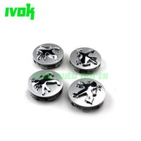 Wholesale 4pcs mm OEM Chrome Alloy Wheel Center Cap Hubcap Cover Trim for Peugeot