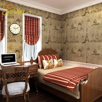 baby boy wallpapers - Vintage European Building Pattern Non Woven Wallpaper Roll Wall Sticker Of For Walls Baby Boy Room Bedroom LivingRoom Home Decor