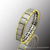 Wholesale Gold Anti Fatigue Germanium Titanium Bracelet Power Bangle For MEN WOMEN Health Reduce muscle tension