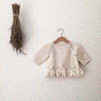baby buttons for sweaters - Hug Me Baby Girls Sweater Lace Tutu Autumn Childrens for Kids Clothing Party Flower Tutu Fur Sweater AA