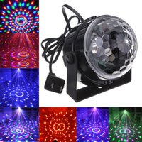 Wholesale Voice Control RGB LED Stage Lamps Crystal Magic Ball Sound Control Laser Projector Stage Effect Light Party Disco Club DJ Light
