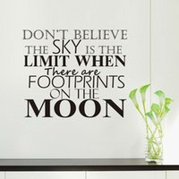 Il y a Footprints On The Moon Autocollant Mural Salon Home Decor DIY amovible Vinyl Wall Decal