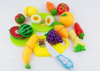 Wholesale set Plastic Kitchen toys Play Food Fruit Vegetable Cutting Kids Pretend Play Educational Toy Pretend Play and Dress up