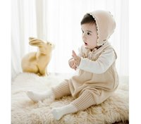 Wholesale Infant Baby Love Knit Romper Autumn Slip Jumpsuit Baby Unisex Sweater Tank Romper Boutique Cute Overall Toddler Baby Costume