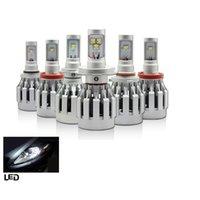 Wholesale 1 pair SHL SMD Universal V V Car Truck White K lm Built in Heat Dispense Fan W CREE LED Headlight