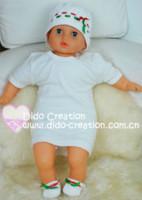 Wholesale Handmade Crochet Baby Hat Shoes Set cotton Holiday Sales crochet baby hat crochet beanie baby hats