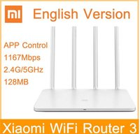 Wholesale Xiaomi WIFI Router ROM MB G GHz Mbps WiFi Repeater Dual Band English Version APP Control wi fi Wireless Routers