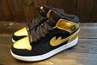 anthony summers - Air dan Retro Anthony Black Gold Basketball Shoes J1 men Athletic Shoes Size Eur