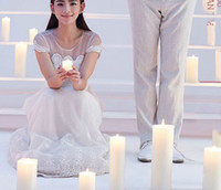 Wholesale Flickering Flameless LED Candle Light For Dinner Tea LED Night Light For Party Wedding Dinner Valentine s Day Christmas Gift Min