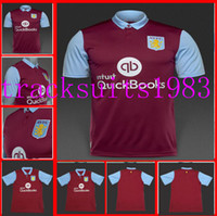 aston villa jersey - League Aston Villa jerseys Shirt Wholesalers rugby jersey red Home Thailand quality