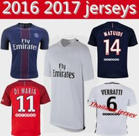 Wholesale thai quality Di Maria PSG Jerseys Camisa Mota MATUIDI PASTORE Beckham LUCAS Ibrahimovic Maillot de Foot Home New Pink Font