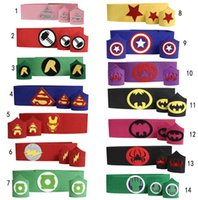 Wholesale New Superhero Belt Cuff armband wristband waistband set Teen kids batman spiderman wonderwoman thor TMNT belt costume birthday party cosplay