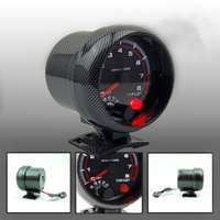auto gauge rpm - 3 mm Tachometer Gauge Carbon Rim Black Face Tachometer Rpm Gauge RPM Meter With RPM Shift Light Auto Gauge
