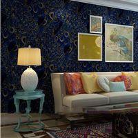 beautiful bird wallpapers - Beautiful French Victorian Peacock Birds Wallpaper Chinese Chinoiserie Wallpaper Asia Japanese Wallpaper