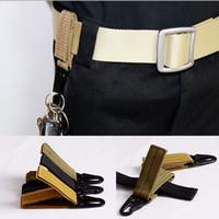 belt webbing wholesale - 2016 Real New Gadget Outdoor Tactical Military Nylon Key Hook Molle Webbing Belt Buckle Hanging Carabiners Metal