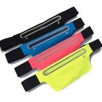 Wholesale 4Pcs Waterproof Running Belt Bum Waist Pouch Fanny Pack Camping Sport Hiking Zip Bag Travel Waist Belt Pouch