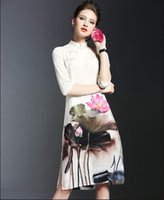 america sweethearts - new arrival girl dress printing Chiffon temperament lady A type Europe and America fashion printing real silk fashion1 piece