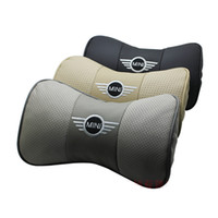 Wholesale nterior Accessories Seat Covers Genuine leather headrest Car Auto Seat cover Head Rest Cushion Headrest for mini neck pillow cooper s cam