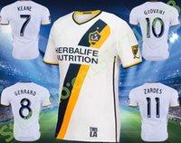 angeles tassels - Novo Los Angeles casa branco LA Galaxy camisa de futebol Gerrard David Beckham camisa de futebol Donovan Keane Juninho