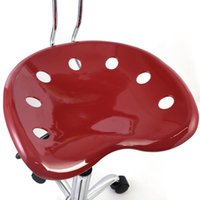 abs bar stool red - 1PC Adjustable Bar Stools ABS Tractor Seat Swivel Chrome Kitchen Breakfast Red