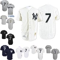 Wholesale Grey Throwback White Mickey Mantle Jersey Men s New York Yankees TH