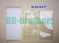 Wholesale Wihte Paper Box with Inside Plastic for iPhone quot LCD Screen Digitizer Protective Packing Package Wrapping sets