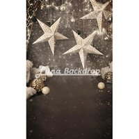 Wholesale 3X5ft x150cm Snowflake Christmas star Newborn Children Vinyl Photography Background photography studio backdrop Photo Props F2213