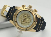 Wholesale Invicta luxury watch men s Analog Display Swiss Automatic Silver Watch color black gold