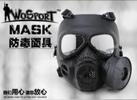 achat en gros de équipement de paintball-champ Cs masque respiratoire tactique lentilles anti-buée équipement échappement Camouflage Halloween Masque Outdoor Paintball Tactique Jungle CS