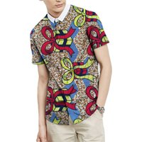 african male clothing - Dashiki design shirt male african printed short sleeve personal customize fashion africa clothing