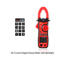 Wholesale Handheld Digital LCD Clamp Meter Multimeter DC AC Voltage AC Current Resistance Temperature Frequency Duty Ratio Measurement