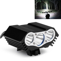 Wholesale Waterproof Lumen x CREE T6 LEDs Modes Bicycle Bike Light Headlight Cycling Torch Front Headlamp BLL_102