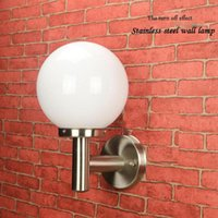 Wholesale new arrival LED outdoor wall light stainless steel and acrylic round waterproof wall lamp wall garden villa gate balcony available with
