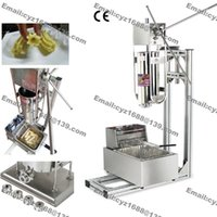 Wholesale Heavy Duty Stainless Steel Manual L Spanish Donuts Churrera Churro Maker Machine with L Electric Fryer Stand