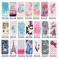 Wholesale Flip Wallet Case For iPhone with Credit Card Holder Plus Front and Back Protective Shell Dreamcatcher