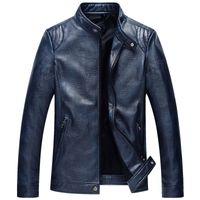 Wholesale New Fashion Autumn Winter Men s Motorcycle Leather Jacket Male Coat Business Casual Coats Men Bomber Jacket Brand Clothing Masculine Jackets