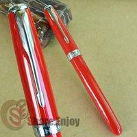 big clip art - JINHAO BIG RED AND SILVER ARROW CLIP MEDIUM NIB FOUNTAIN PEN