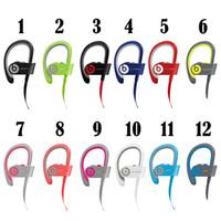 Wholesale Beats powerbeats wireless Bluetooth Headset noise Cancel headphone Colors with retail box DHL