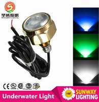 Wholesale 27W DC12V Cree LED Yacht Marine Underwater Light IP68 Waterproof Diving Underwater Drain Plug Light Boat Lamp